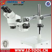 Free Shipping ! 7X-45X Single Boom Stand  Binocular  Stereo Zoom Microscope  144PCS LED Light