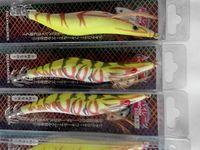 Fishing glow wooden  Shrimp jigs squid Hooks lure  free shipping