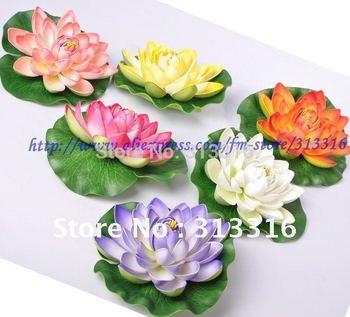 Free shipping, Aquarium fish tank Decoration, 10pcs  Lotus Flower ,Water Lily Flower