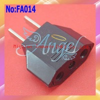 300pcs/lot Cheap Universal EU to US AC Power Converter Travel Plug Adapter  #FA014