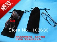 Low-cost ,Extra large 10 x 28 cm black velvet bag/jewelry bag/drawstring pouch,Glasses packaging bag,Free shipping