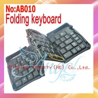 Portable USB interface Mini Foldable Keyboard,USB Keyboard,USB Flexible Keyboard Wiht Retail packaging #AB010
