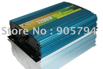 Free shipping! 1200W GRID TIE INVERTER, DC50-100v, AC190-240v for solar panel or wind turbine