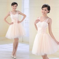 Free Shipping 2012 Sweet Princess Bridemaids Evening Dress,Party Prom Gown