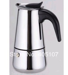 Bialetti,Inoxpran's supplier!!!4cup High quality Moka coffee maker,Espresso coffee pot,Express coffee maker,Free shipping!!!(China (Mainland))