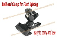 Free shipping Spring Clamp with Ballhead 4 Flash Adapter Studio for Flash lighting easy to carry and use 107021