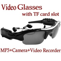 Video Glasses Sunglasses DVR mp3 player hidden DV Recorder Camera with TF card slot