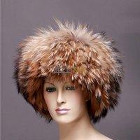 QD10444 Genuine Female Fur Hat Warm Cute Cap Fashion Headdress Accessory Hot Sale/Wholesale/Retail Free Shipping/OEM/female male