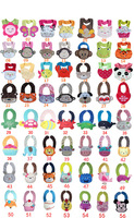 5 Pieces/Lot--100% cotton cartoon Animal style infant Burp Cloths/Baby bib/Infant modeling cotton bibs/waterproof bibs