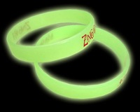 Glow in the Dark color filled silicobe bracelets free shipping free design