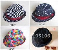 Fashion Children Caps Fedoras Hats Caps Hat Grid Star Black cap For kids Trendy Headgears Headwear Mix order