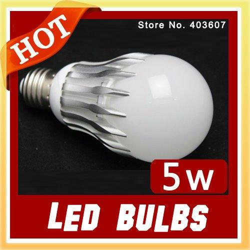 Wholesale led light LED bulb WHITE 5W High Power Aluminum Led Light Lamp,Free sample wholesale