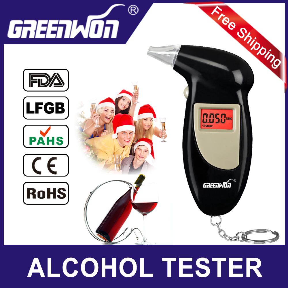Hot Professional Digital Breath Alcohol Tester Detector Meter Breathalyzer Portable Key Chain Alcohol Analyzer Breathlyser(China (Mainland))