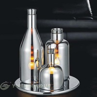 Silver Modern Wine Bottles Table Lamping,indoor lighting,Free Shipping!