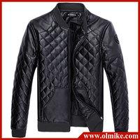 Luxurious Lingge Motorbike leather garments Men's slim PU leather coat mens motorbike jackets Black & Coffee Asia M-5XL C264