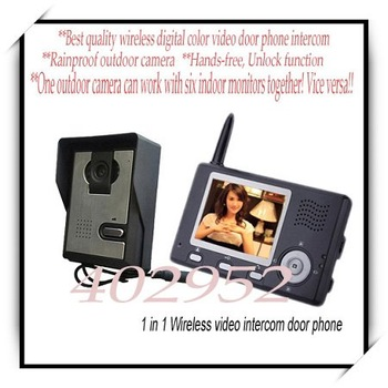 Best wireless video door phone (Take photos, unlock, hands-free, 16pcs door bells, night vision.etc)