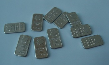 Free shipping ( 25pcs/lot).999 Pure german silver 1gram maple leaf Bullion Art Bar wholsale and retail