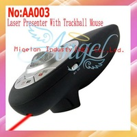 Wholesale 2.4G Wireless Presenter,Wireless Presenter With Red Laser Pointer+Trackball Mouse+Free Shipping #AA003