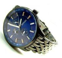 Original Sinobi Best Selling_Fine Stainless Stell Uniaue Blue Dial Black Metal Watch Band_Men&Boy_Wholesale&Retail