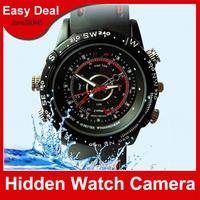 Waterproof Watch Camera 4GB 8GB Sports Mini DV DVR HD 1280x960 Hidden Camera Security Camera Free Shipping