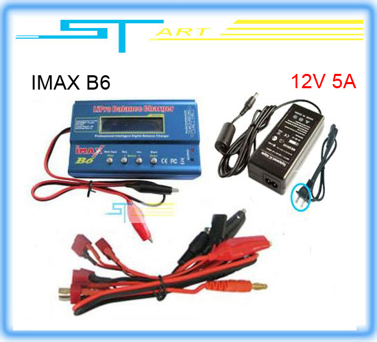 IMAX B6 Digital RC Lipo NiMh Battery Balance Charger+AC POWER 12V 5A Adapter 2S-6S 7.4V-22.2V Free shipping 2014(Hong Kong)