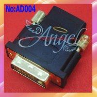 Wholesale DVI 24+1 Pin Male To HDMI Female Converter adapter 100% guaranteed DVI to HDMI adapter #AD004