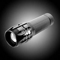 Free shipping 120lm Bright LED Flashlight Adjustable Zoom Focus Aluminum LED Flashlights camping lamp LED Torch 50pcs/lot