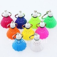 "Mini Simulation Badminton KeyChain,Senior Plastic Cell Phone Chain,Many colors(1.77"" x 1.57"")-Free Shipping"