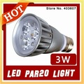 20PCS E27 3W Par 20 LED Spotlight Bulb High Power Non-Dimmer 3*1W Wholesale