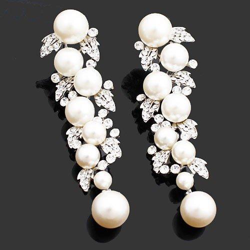 Pearl Earrings Designs Images Faux Pearl Drop Earrings