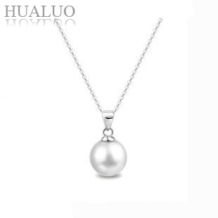 100% FulGuaranteed 925 Sterling Silver Artificial Pearl Pendant with Platinum Plated CY113