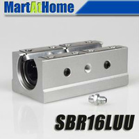 4pcs SBR16LUU 16mm CNC Router Linear ball Slide Block #SM175