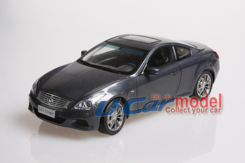 1pcs/lot 1:18 Infiniti G37 Coupe  Die-cst Car model (Blue Color) On sales