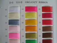 "1"" 25MM width , organzy ribbon ,MOQ is 250yards/color ,free shipping ,178colors canbe choosed"