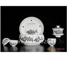 Free Shipping  The ancient type exotic amorous feelings black tea service six things travel sets