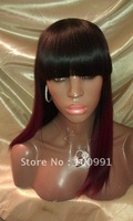 Hot Selling!!!  100% Human Hair wig alternative wigs with hair bang hair fringe style for women