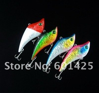 250pcs Game vibe Fishing lures 80mm 20g with green color eyes