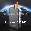 Free shipping auto magic cigarette case with lighter,auto cigarette box holder can hold 10pcs cigarette(China (Mainland))