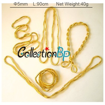 5pcsWholesale Bendy Fashion Flexible Gold Plated Chains Snake Necklace Punk Necklace 90cm*5mm