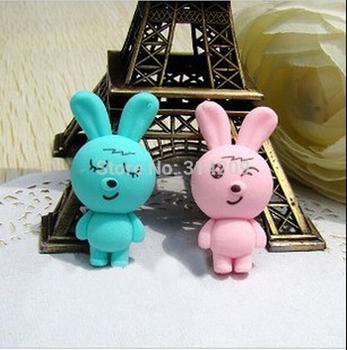 Free Shipping, Wholesale Lot of 40pcs, Couple Rabbit Design-Children Cute Rubber Eraser/Wooden Pencil Earser/Kids Gift
