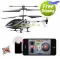 I helicopter by iphone ipad control metal 3 channel with gyro 777-170 19cm RTF