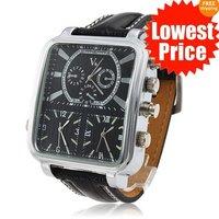 Free Ship Fashion 6 Hand Dial watch Mens Watch Analog Quartz Sport Watch Wholesale Wristwatch  Xmas Gift