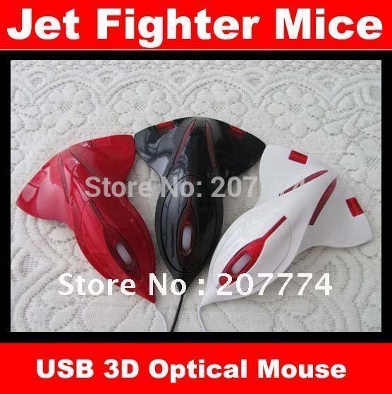 1pcs/lot Aircraft Jet Fighter 3D USB Optical Mouse Mice Laptop Freeshipping(China (Mainland))