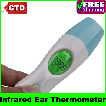 IT-201 4 in 1 Non-touch Infrared Digital Ear/Forehead/Ambient Thermometer with Clock
