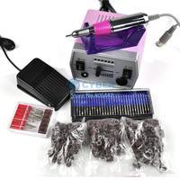 30000 RPM Pro Electric Art Nail Drill File Improved Overheat + Vibration Manicure Set US/EU Plug Free Shipping