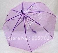 free DHL shipping 100pcs/lot purple transparent umbrellaclear  color transparent umbrella