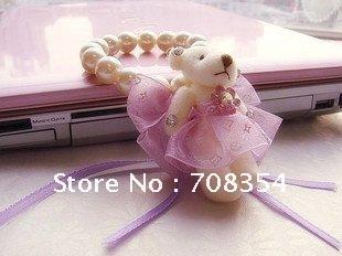 Spedizione gratuita! 5pcs/lot mini orso catena braccialetto di perle/sposa mano fiore trinket/damigella d'onore stunt fiore(mix colori)