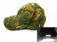 Fishing LED Light caps Camouflage outdoor breathable LED caps Cotton caps with velcro buckle 2pcs/lot Free shipping!!!