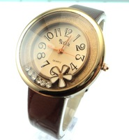 Hot Sale HIgh Quality Shinning Crystal leather strap Watch Woman Ladies Fashion Dress Quartz wrist watch 111