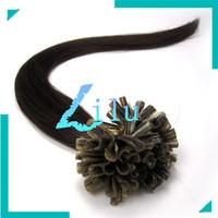 "free shipping 16""-26""Remy U Tip Nail Tip Human Hair Extension #02,100s"